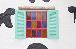 Colorful Wooden Window. Royalty Free Stock Images