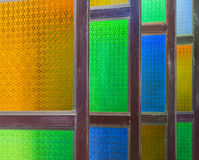 Colorful wooden window Royalty Free Stock Photos