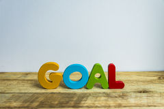 Colorful wooden word Goal with white background8 Stock Photos