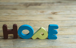 Colorful wooden word Hope on wooden floor1 Royalty Free Stock Image
