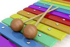 Colorful wooden xylophone Royalty Free Stock Image