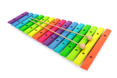 Colorful wooden xylophone with mallets Stock Image
