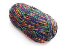 Colorful Wool. Multicolored wool on bright background. Shot in studio Royalty Free Stock Photography