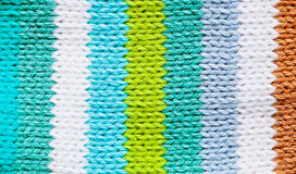 Colorful wool. Coloful wool pattern on a child's item of clothing Royalty Free Stock Photos