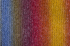 Colorful wool knitting Stock Photo