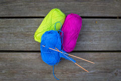 Colorful wool for knitwear Stock Photos