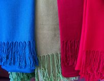 Colorful wool scarf Stock Photos