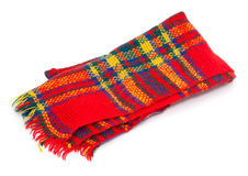 Colorful wool scarf Royalty Free Stock Images
