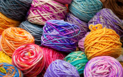 Colorful wool skeins Royalty Free Stock Photography