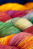Colorful wool yarn balls Royalty Free Stock Photo