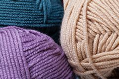 Colorful wool yarn balls Stock Photography