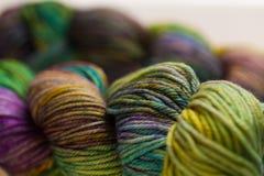 Colorful wool yarn balls Royalty Free Stock Photography
