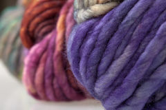 Colorful wool yarn balls Stock Image