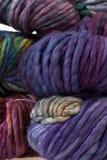 Colorful wool yarn balls Royalty Free Stock Photos