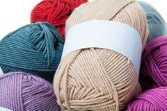Colorful wool yarn balls Stock Photo