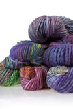 Colorful wool yarn balls Royalty Free Stock Images
