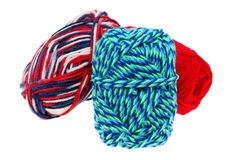 Colorful wool yarn Stock Photos