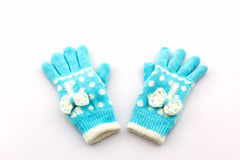 Colorful woolen glove Royalty Free Stock Images