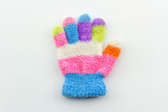 Colorful woolen glove of children. Royalty Free Stock Image