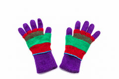 Colorful woolen glove of children. Royalty Free Stock Photography