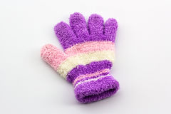 Colorful woolen glove of children. Stock Photos