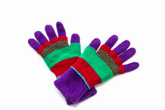 Colorful woolen glove. Stock Photo