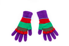 Colorful woolen glove. Stock Image