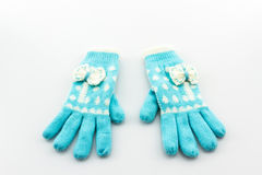 Colorful woolen glove . Stock Photos