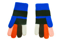 Colorful woolen gloves. Royalty Free Stock Photos