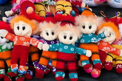 Colorful Woolen Puppets Royalty Free Stock Photo