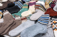 Colorful woolen socks Stock Photography