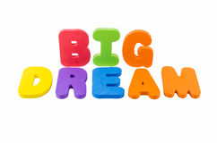 The colorful word BIG DREAM Royalty Free Stock Image