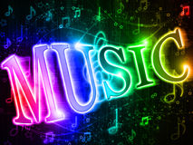 Colorful Word Music Stock Photos