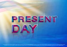 The Colorful word Present Day. royalty free stock photo
