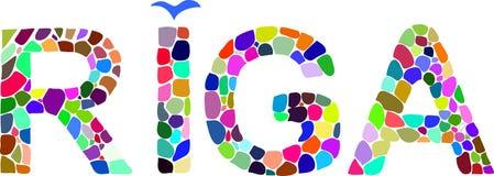 Colorful word Riga Stock Photo