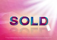 The Colorful word sold royalty free stock photos