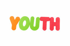 The colorful word YOUTH Stock Photography
