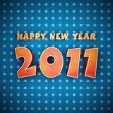 Colorful words of happy new year 2011. On blue background Stock Photography