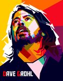 DAVE GROHL pop art colour stock illustration