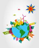 Colorful world eco friendly concept. Stock Images