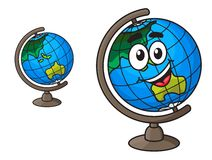 Colorful world globe with a laughing smile Royalty Free Stock Image