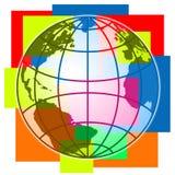 Colorful World illustration Stock Photo