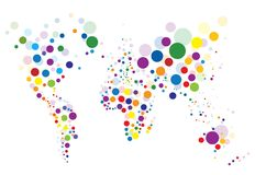 Colorful world map Royalty Free Stock Image