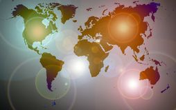 Colorful world map Royalty Free Stock Photography
