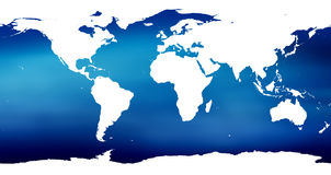 Colorful World map. Map of the world Royalty Free Stock Image