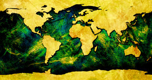 Colorful World map. Map of the world Royalty Free Stock Photo