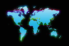 Colorful World map background Royalty Free Stock Images
