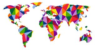 Colorful world map Royalty Free Stock Images