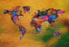 Colorful World Map Stock Photos