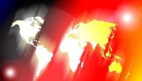 Colorful world map of the planet earth Royalty Free Stock Image